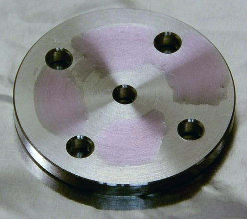 Metal surface after plasma treatment