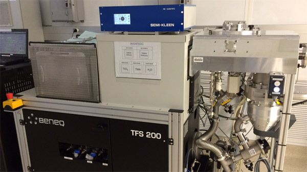 Plasma cleaning samples before film deposition on BENEQ ALD system